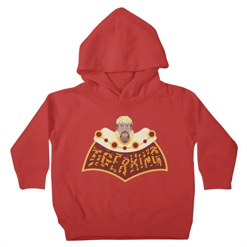 The Tiger King Kids Toddler Pullover Hoody by Mike Hampton's T-Shirt Shop
