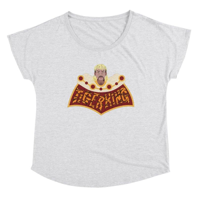 The Tiger King Women's Dolman Scoop Neck by Mike Hampton's T-Shirt Shop