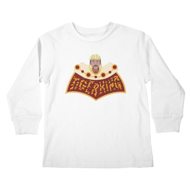 The Tiger King Kids Longsleeve T-Shirt by Mike Hampton's T-Shirt Shop