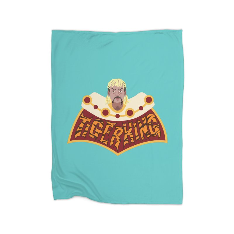 The Tiger King Home Fleece Blanket Blanket by Mike Hampton's T-Shirt Shop