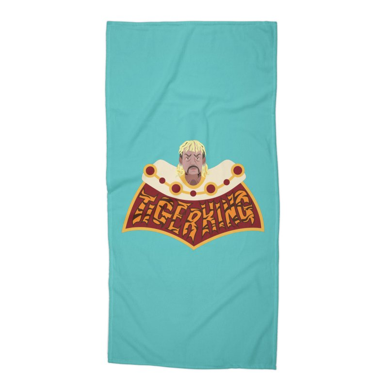 The Tiger King Accessories Beach Towel by Mike Hampton's T-Shirt Shop