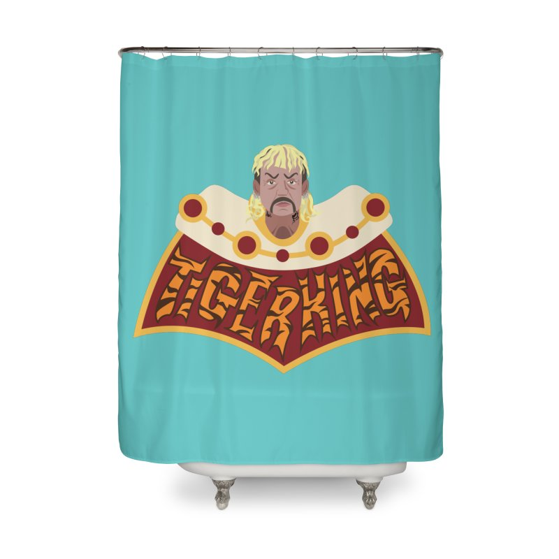 The Tiger King Home Shower Curtain by Mike Hampton's T-Shirt Shop