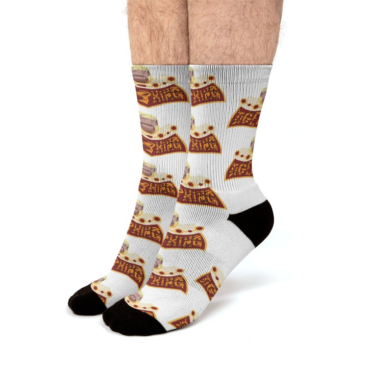 The Tiger King Men's Crew Socks by Mike Hampton's T-Shirt Shop