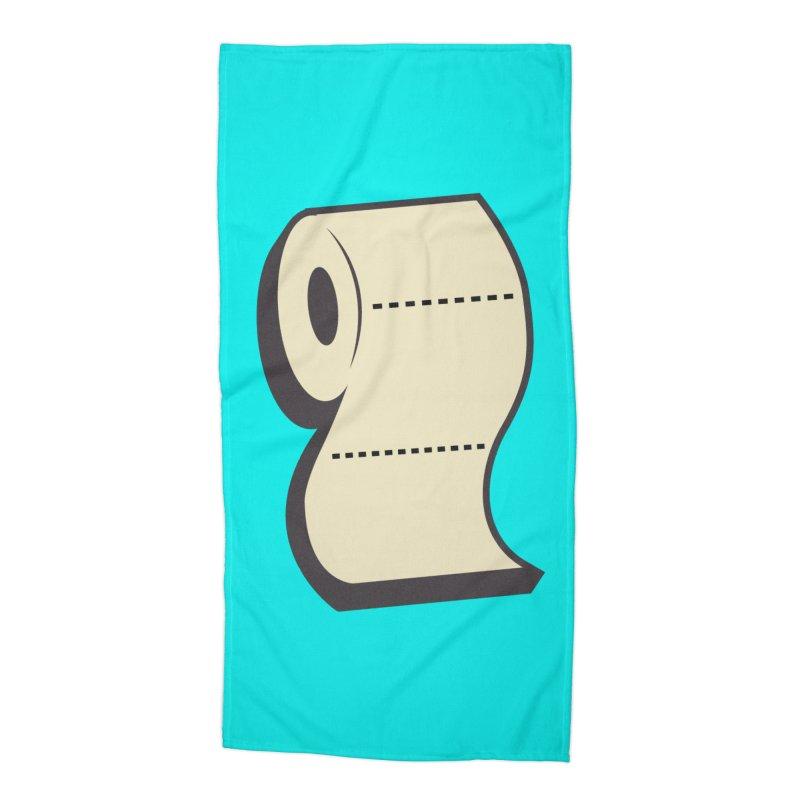 TP Accessories Beach Towel by Mike Hampton's T-Shirt Shop