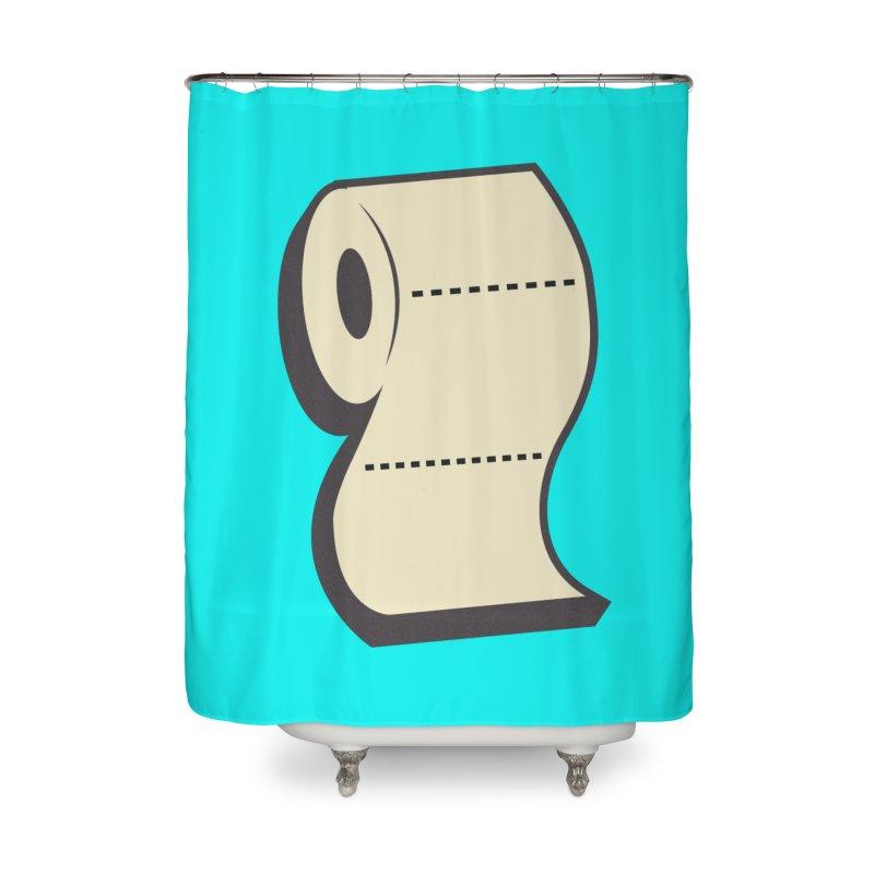 TP Home Shower Curtain by Mike Hampton's T-Shirt Shop