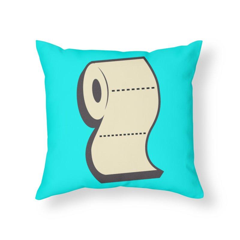 TP Home Throw Pillow by Mike Hampton's T-Shirt Shop