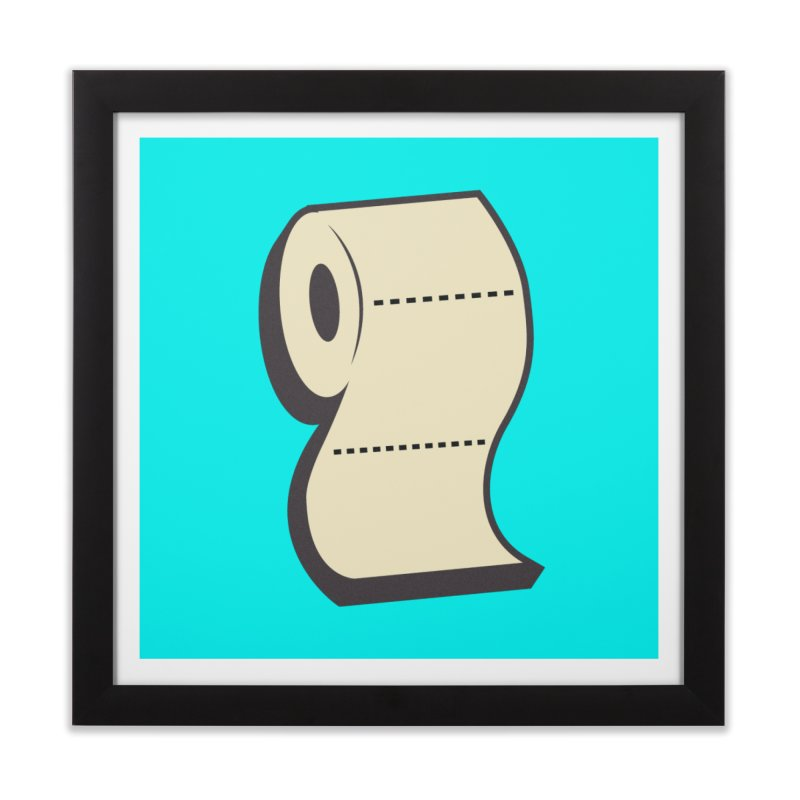 TP Home Framed Fine Art Print by Mike Hampton's T-Shirt Shop