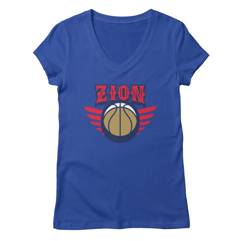 Zion Women's Regular V-Neck by Mike Hampton's T-Shirt Shop