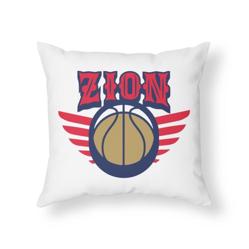 Zion Home Throw Pillow by Mike Hampton's T-Shirt Shop