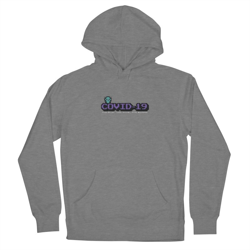 COVID-19-8-BIT Men's French Terry Pullover Hoody by Mike Hampton's T-Shirt Shop