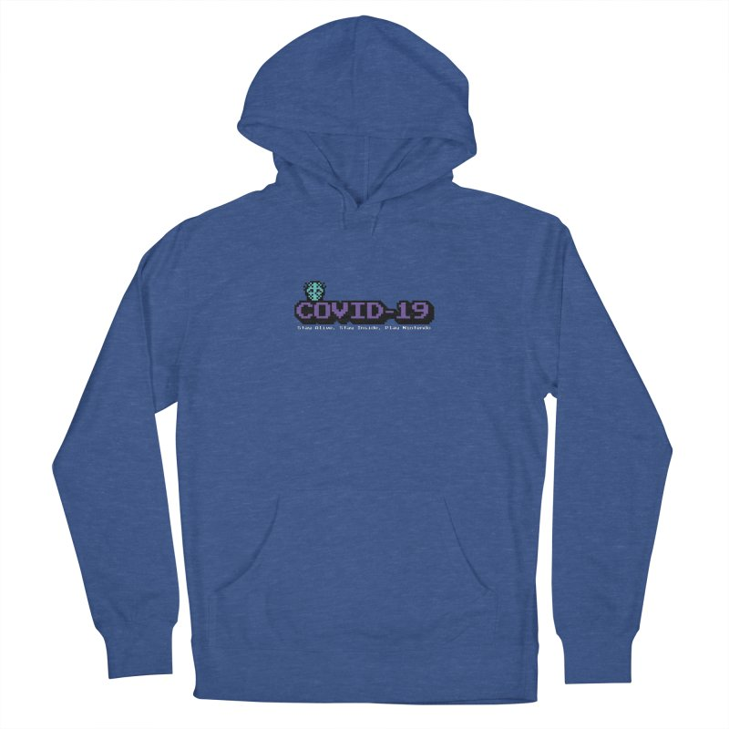 COVID-19-8-BIT Women's French Terry Pullover Hoody by Mike Hampton's T-Shirt Shop