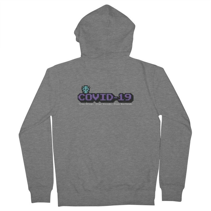 COVID-19-8-BIT Men's French Terry Zip-Up Hoody by Mike Hampton's T-Shirt Shop