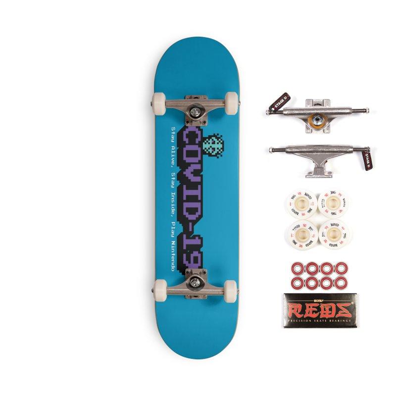 COVID-19-8-BIT Accessories Complete - Pro Skateboard by Mike Hampton's T-Shirt Shop