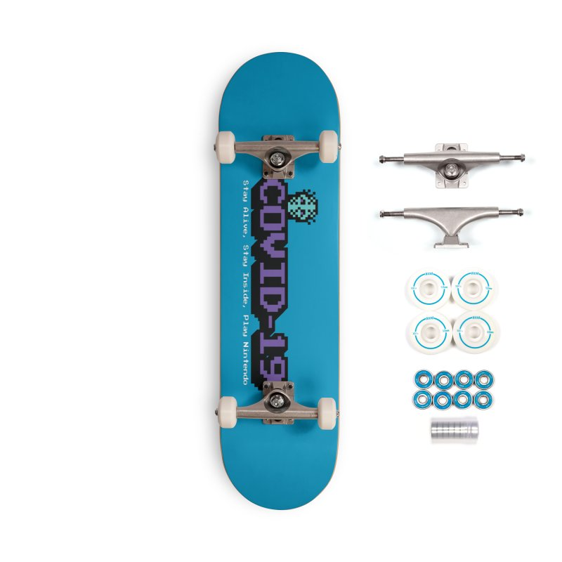 COVID-19-8-BIT Accessories Complete - Basic Skateboard by Mike Hampton's T-Shirt Shop