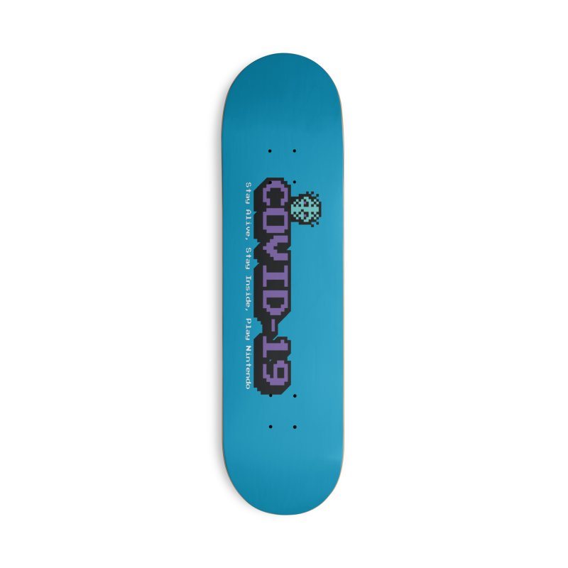 COVID-19-8-BIT Accessories Deck Only Skateboard by Mike Hampton's T-Shirt Shop