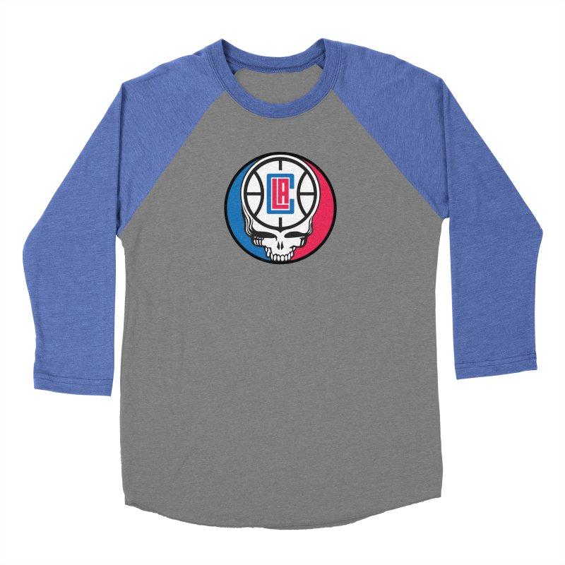 Grateful Clips Women's Baseball Triblend Longsleeve T-Shirt by Mike Hampton's T-Shirt Shop