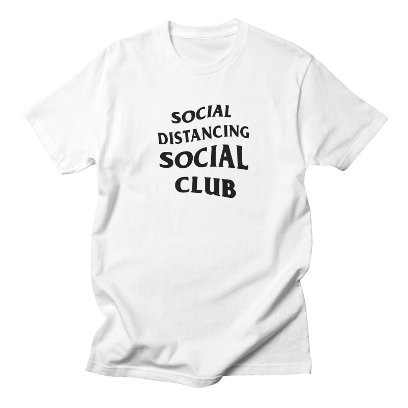 Social Distancing Social Club (alternate) Men's T-Shirt by Mike Hampton's T-Shirt Shop