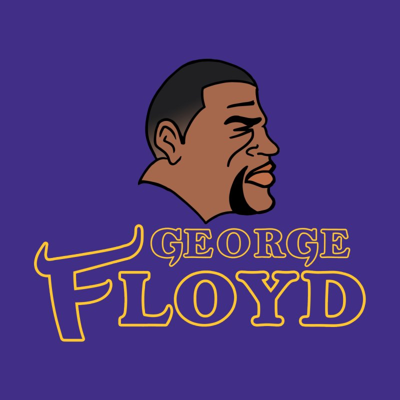 Viking George Floyd Men's T-Shirt by Mike Hampton's T-Shirt Shop