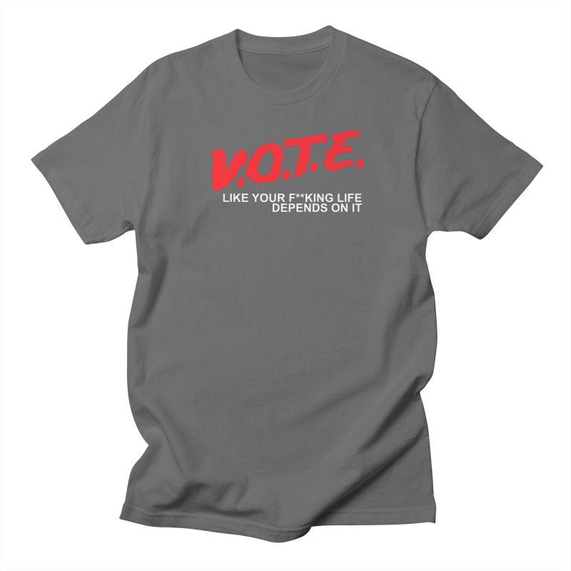 V.O.T.E. Men's T-Shirt by Mike Hampton's T-Shirt Shop