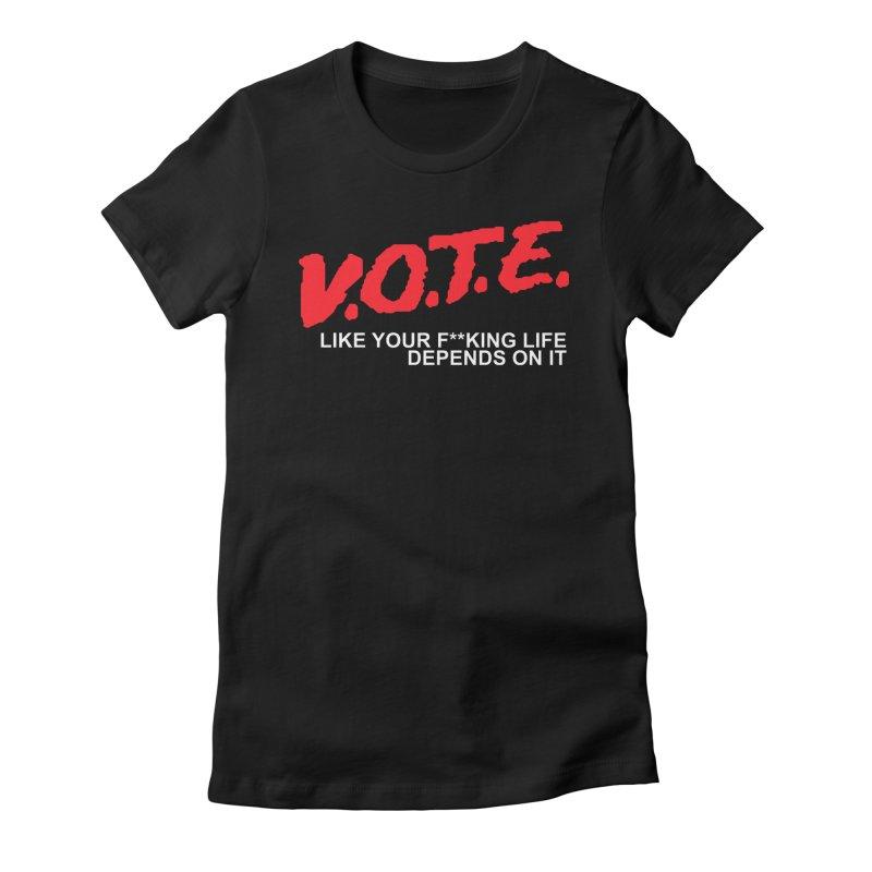 V.O.T.E. Women's T-Shirt by Mike Hampton's T-Shirt Shop