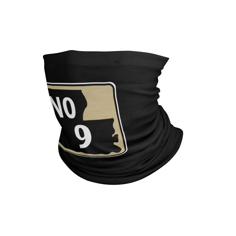 NO Highway #9 Accessories Neck Gaiter by Mike Hampton's T-Shirt Shop
