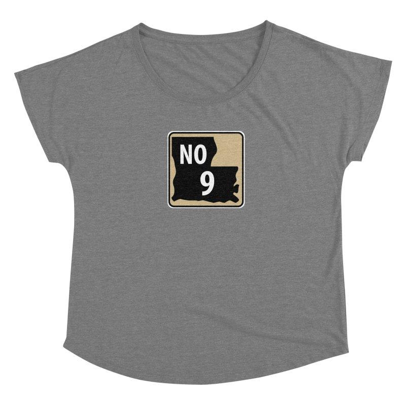 NO Highway #9 Women's Scoop Neck by Mike Hampton's T-Shirt Shop