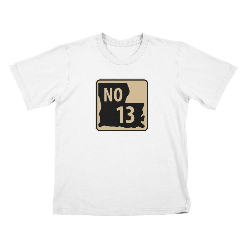 NO Highway #13 Kids T-Shirt by Mike Hampton's T-Shirt Shop