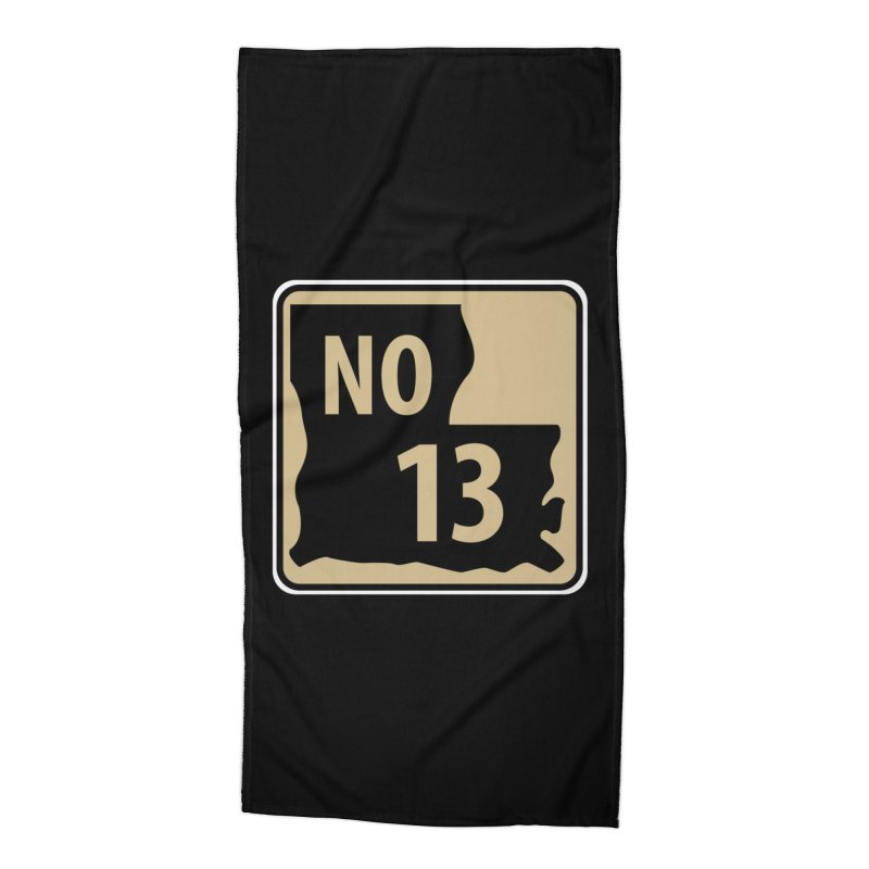 NO Highway #13 Accessories Beach Towel by Mike Hampton's T-Shirt Shop