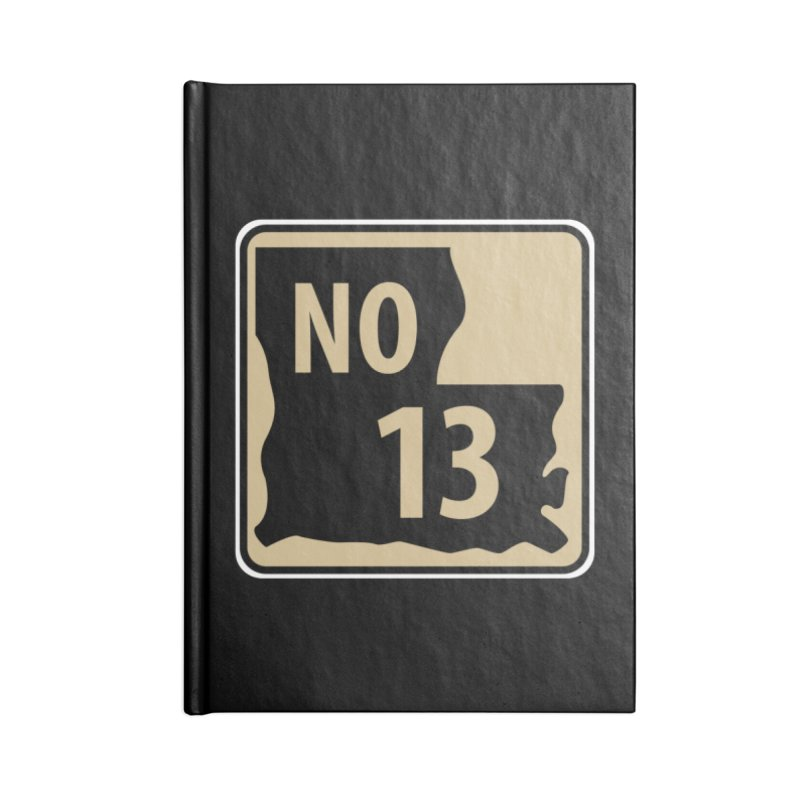 NO Highway #13 Accessories Notebook by Mike Hampton's T-Shirt Shop