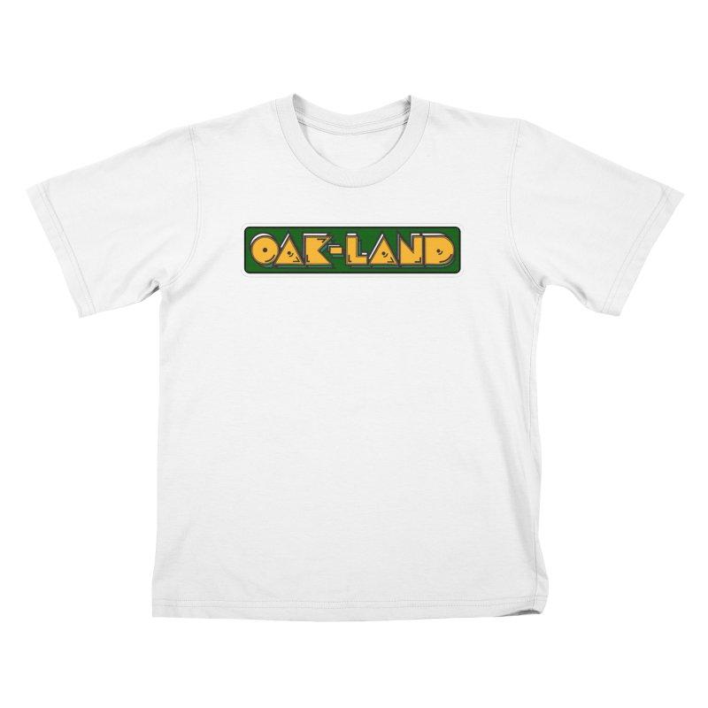 OAK-LAND Kids T-Shirt by Mike Hampton's T-Shirt Shop