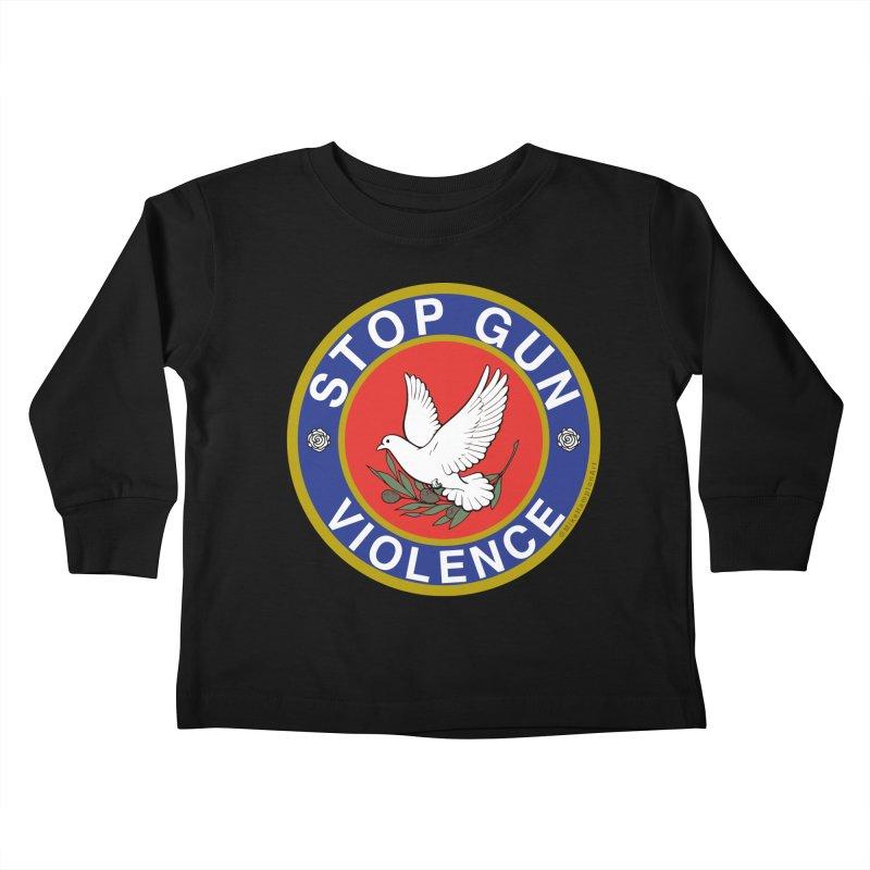 Stop Gun Violence Kids Toddler Longsleeve T-Shirt by Mike Hampton's T-Shirt Shop