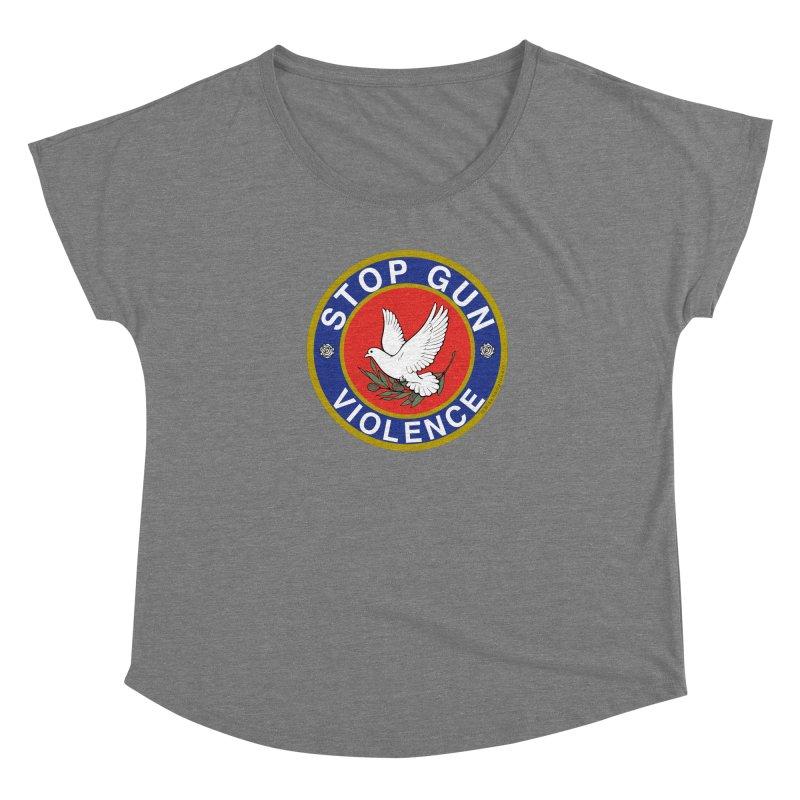 Stop Gun Violence Women's Scoop Neck by Mike Hampton's T-Shirt Shop
