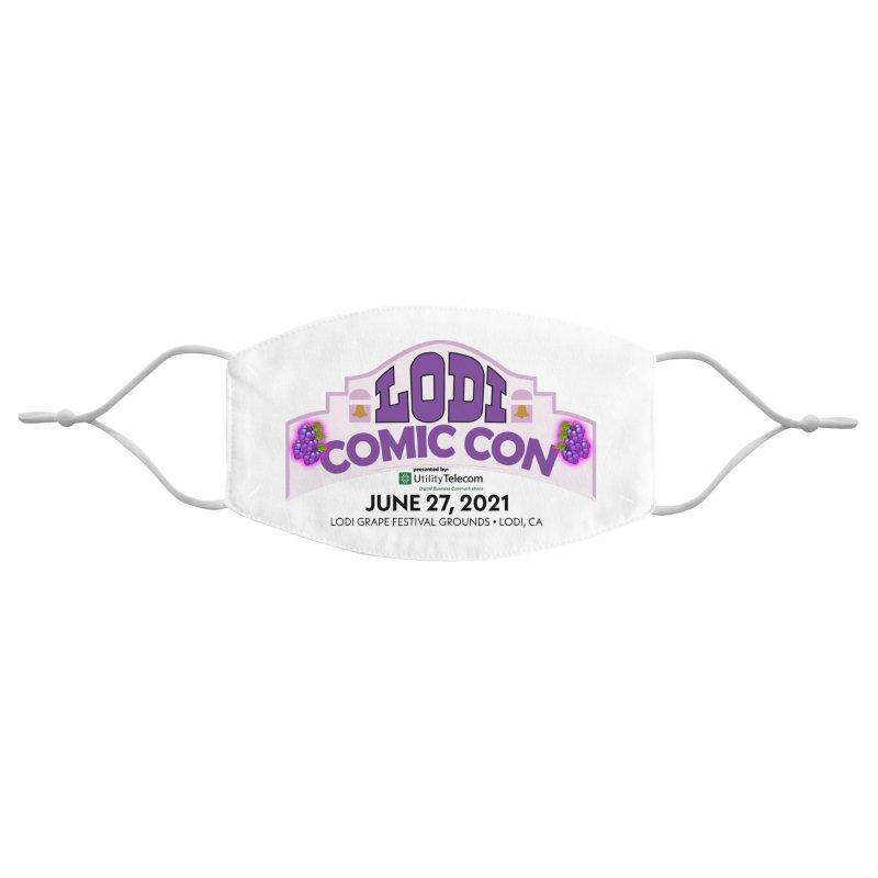 Lodi Comic Con Accessories Face Mask by Mike Hampton's T-Shirt Shop