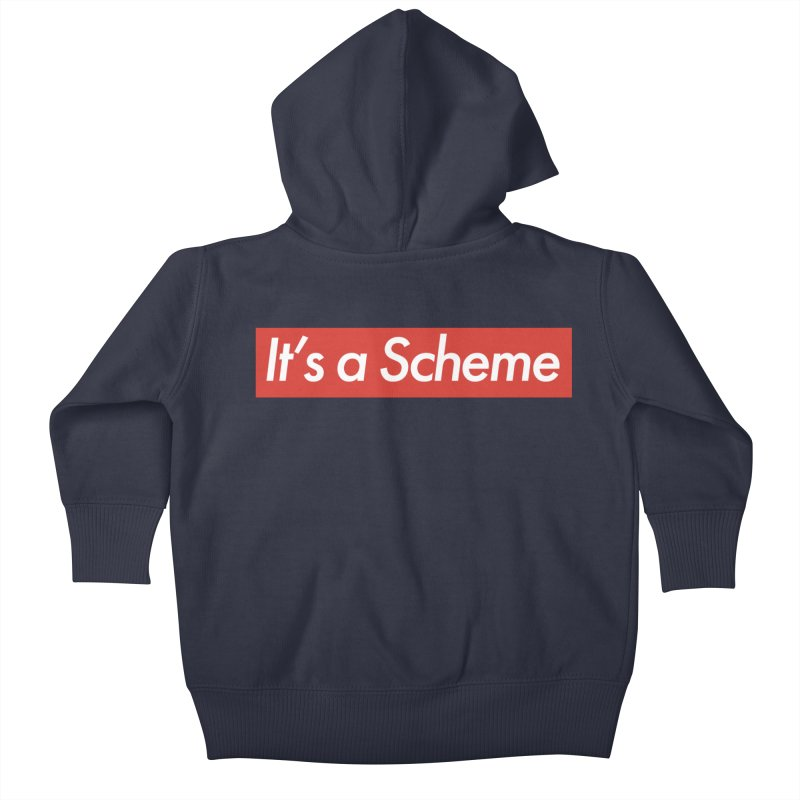 Supreme Scheme Kids Baby Zip-Up Hoody by Mike Hampton's T-Shirt Shop