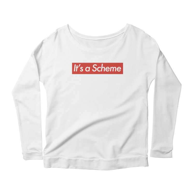 Supreme Scheme Women's Longsleeve Scoopneck  by Mike Hampton's T-Shirt Shop