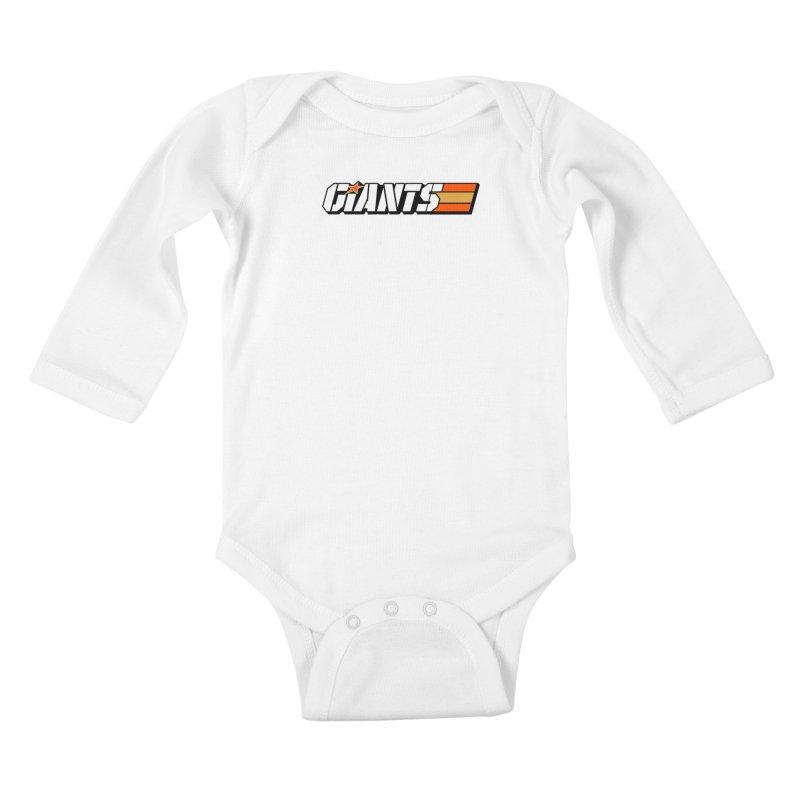 Yo Giants! Kids Baby Longsleeve Bodysuit by Mike Hampton's T-Shirt Shop
