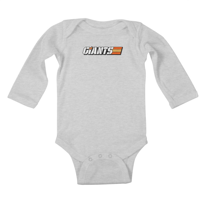 Yo Giants! Kids Baby Longsleeve Bodysuit by Mike Hampton's T-Shirt Shop