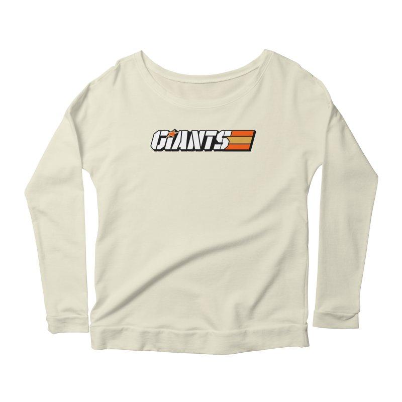 Yo Giants! Women's Longsleeve Scoopneck  by Mike Hampton's T-Shirt Shop