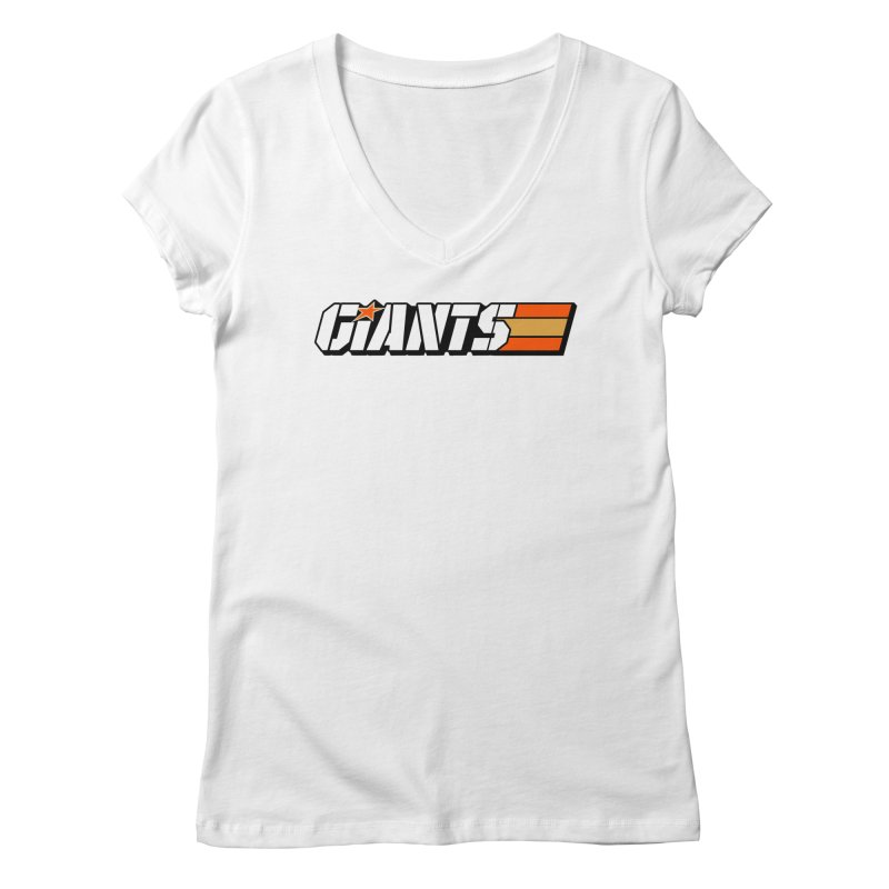 Yo Giants! Women's V-Neck by Mike Hampton's T-Shirt Shop