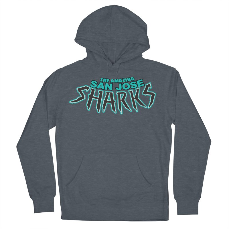 Friendly Neighborhood Sharks Men's French Terry Pullover Hoody by Mike Hampton's T-Shirt Shop