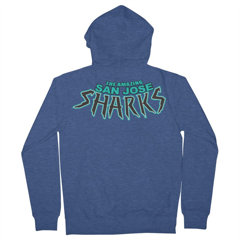 Friendly Neighborhood Sharks Women's French Terry Zip-Up Hoody by Mike Hampton's T-Shirt Shop