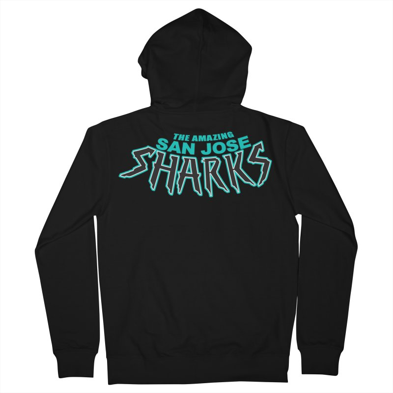 Friendly Neighborhood Sharks Women's Zip-Up Hoody by Mike Hampton's T-Shirt Shop