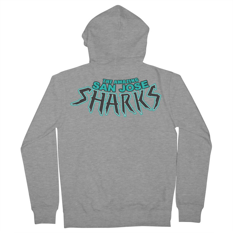 Friendly Neighborhood Sharks Men's Zip-Up Hoody by Mike Hampton's T-Shirt Shop