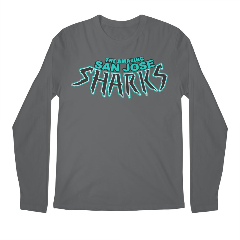 Friendly Neighborhood Sharks Men's Regular Longsleeve T-Shirt by Mike Hampton's T-Shirt Shop