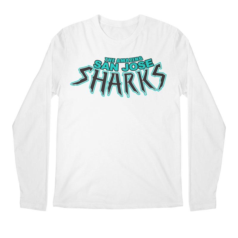 Friendly Neighborhood Sharks Men's Longsleeve T-Shirt by Mike Hampton's T-Shirt Shop