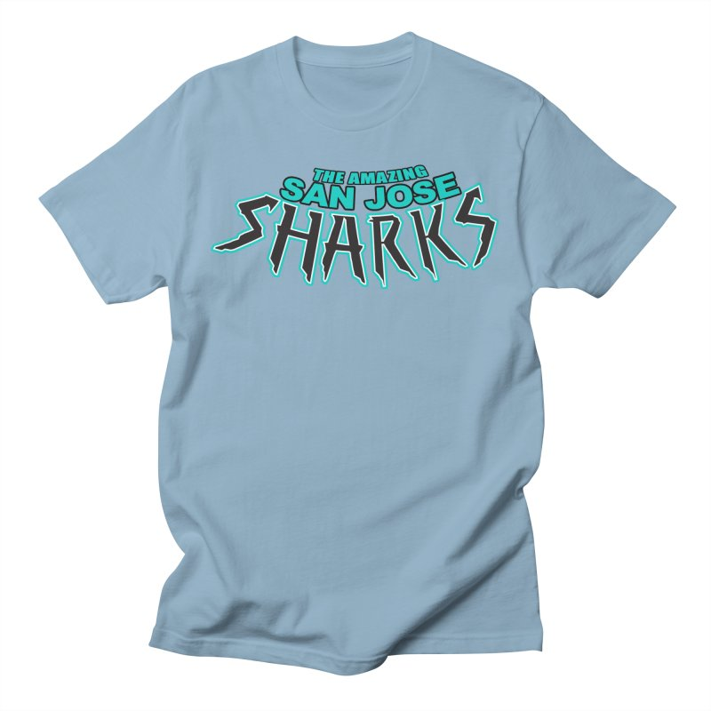 Friendly Neighborhood Sharks Men's T-Shirt by Mike Hampton's T-Shirt Shop