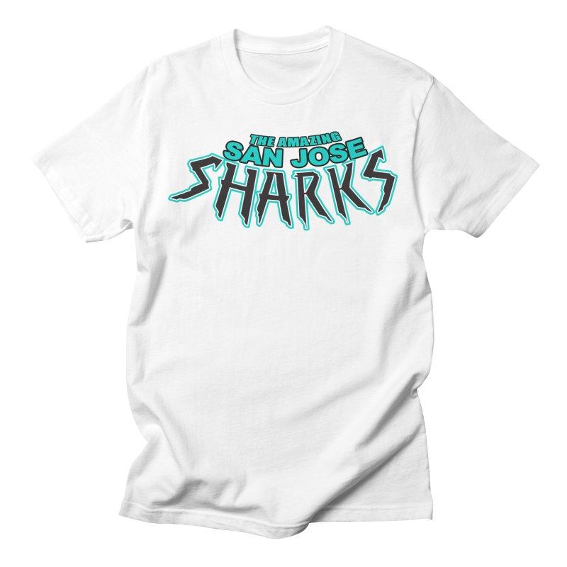 Friendly Neighborhood Sharks Men's Regular T-Shirt by Mike Hampton's T-Shirt Shop