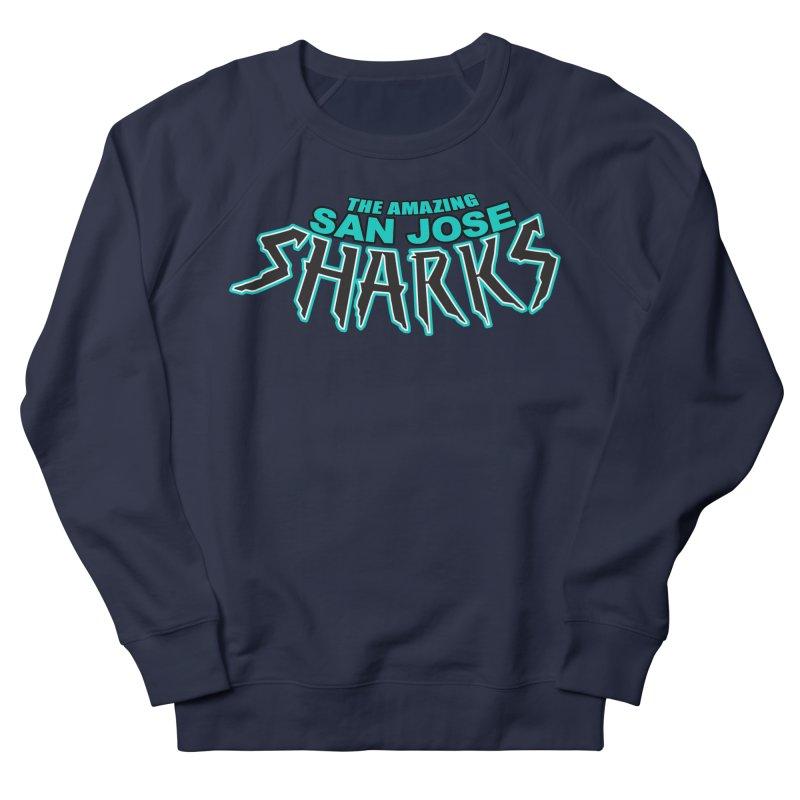 Friendly Neighborhood Sharks Women's French Terry Sweatshirt by Mike Hampton's T-Shirt Shop