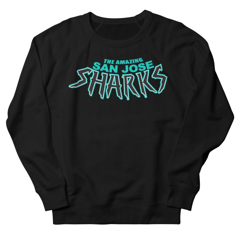 Friendly Neighborhood Sharks Men's French Terry Sweatshirt by Mike Hampton's T-Shirt Shop
