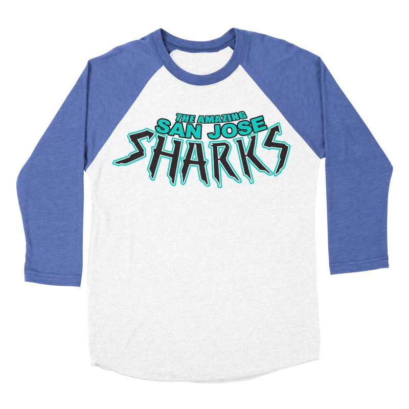 Friendly Neighborhood Sharks Women's Baseball Triblend T-Shirt by Mike Hampton's T-Shirt Shop